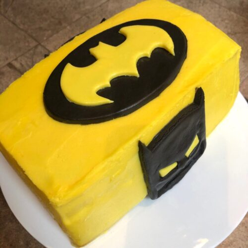 side view of batman cake