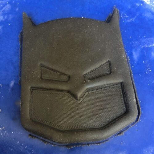 batman cutout in marshmallow fondant