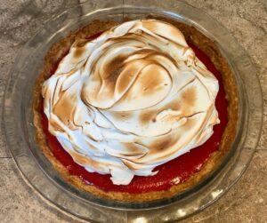 meyer lemon cranberry meringue pie