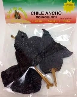 package of dried ancho chiles
