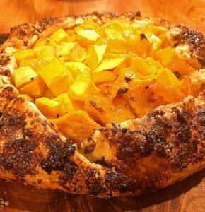 baked mango galette