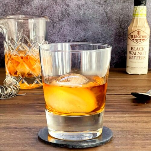 whiskey and black bitters drink