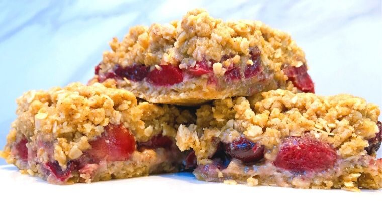 Easy Cherry Crumble Bars