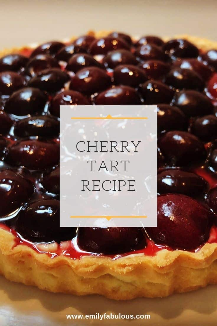 A creamy, delicious and impressive Cherry Tart Recipe you can make at home! Fresh cherries, a delicious pastry cream and a flaky tart crust make this sophisticated dessert.