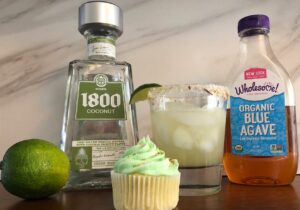 coconut margarita cupcake, coconut margarita, agave syrup, coconut tequila and a fresh lime