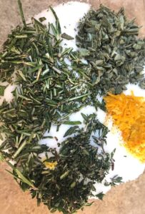 dry brine herbs and salt