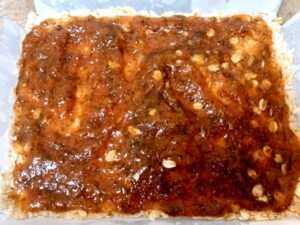fig jam on crumble