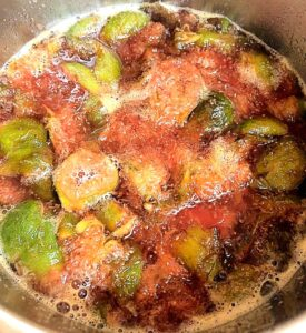 fresh figs on stove to make fig jam