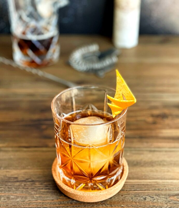gin and black walnut bitters drink