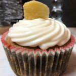 gingerbread cupcake with candied ginger