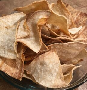 homemade baked tortilla chips