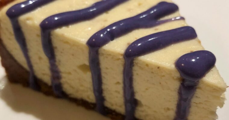 Instant Pot Lavender Cheesecake