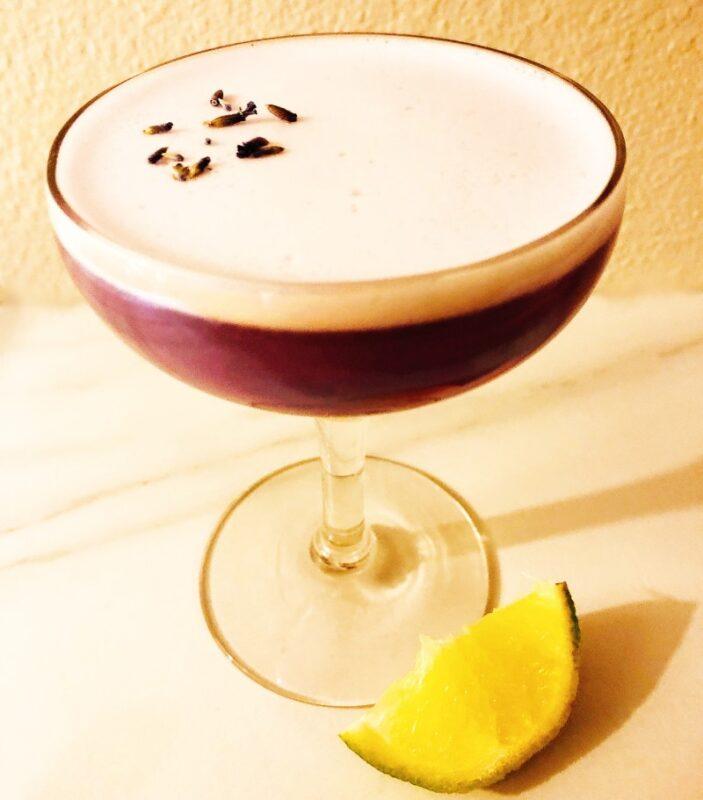 lavender pisco sour