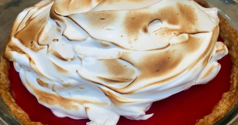 Meyer Lemon Cranberry Meringue Pie Recipe