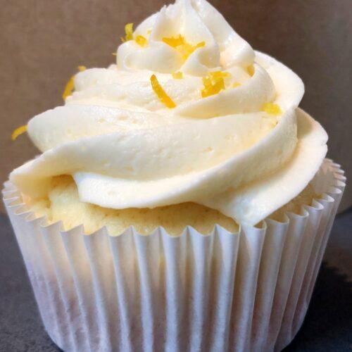 lemon curd filled cupcake