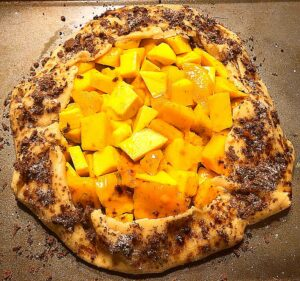 mango galette before baking