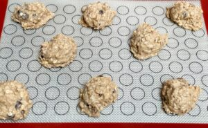 oatmeal banana cookies before baking
