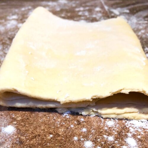 folded puff pastry