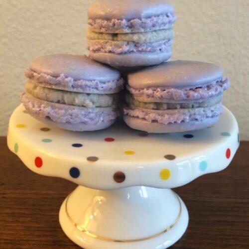 purple macarons
