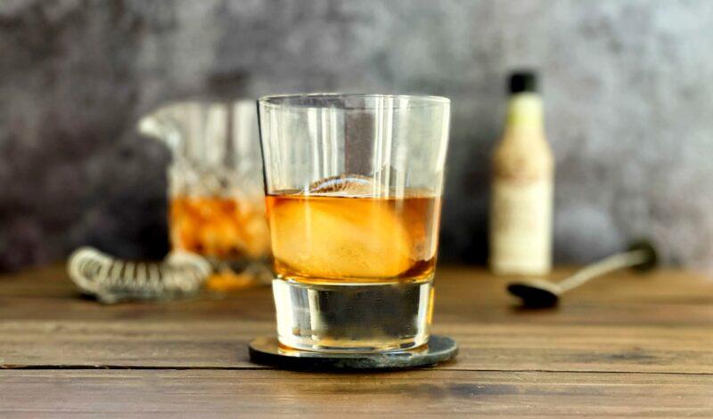 whiskey black walnut bitters cocktail