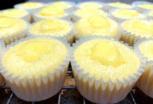lemon curd filled mini cupcakes