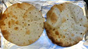 flour tortillas that have been baked in the oven