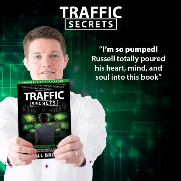 I'm so pumped image for Traffic Secrets book by Russell Brunson