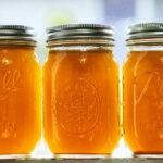 broth in a mason jar