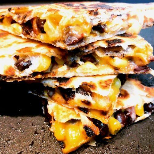 roasted veggie cheese quesadilla