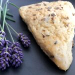 lavender scone with fresh lavender