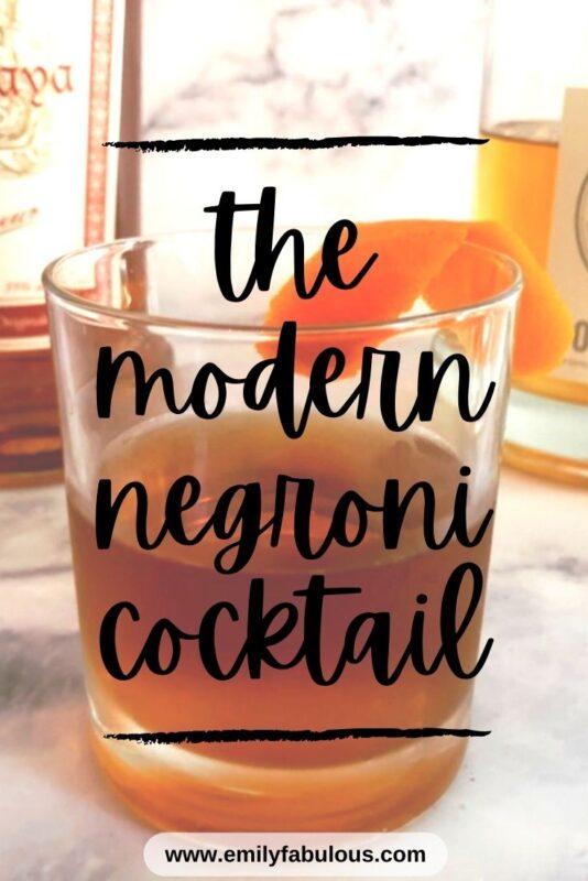 negroni cocktail with an orange twist