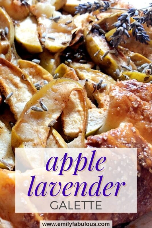 apple lavender galette with suagared crust