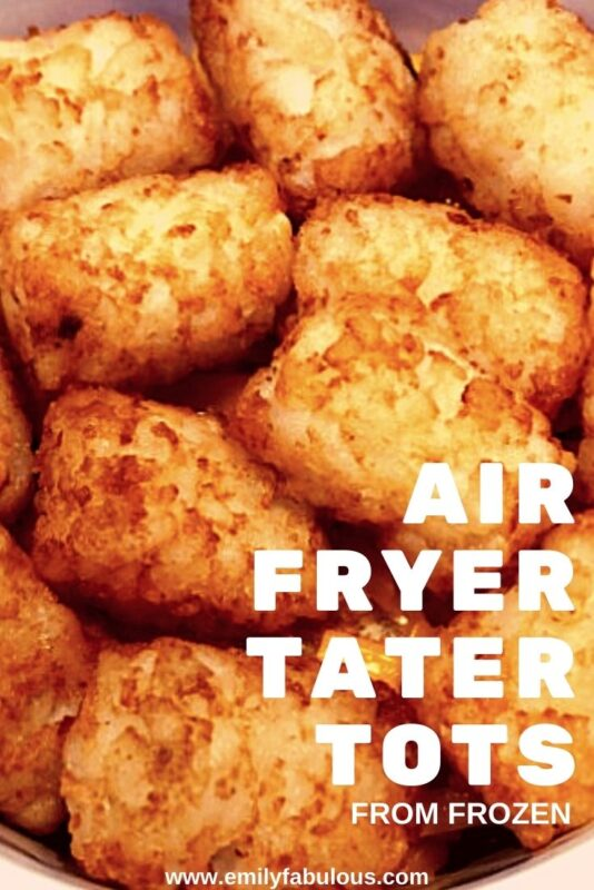 tater tots that have been cooked in an air fryer