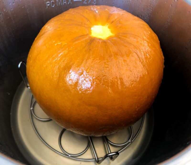 pumpkin in instant pot after cooking