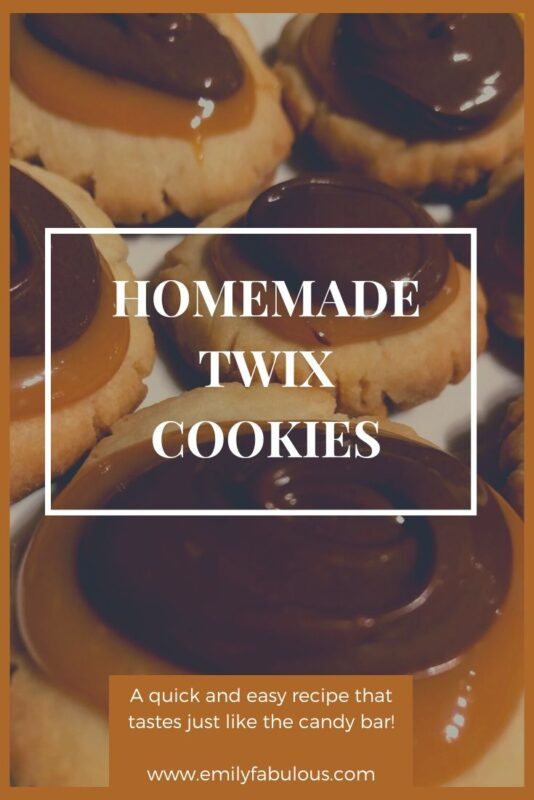 homemade copycat twix cookies with caramel and chocolate