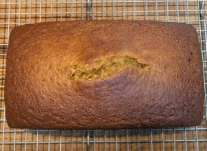 baked pumpkin bread on a cooling rack