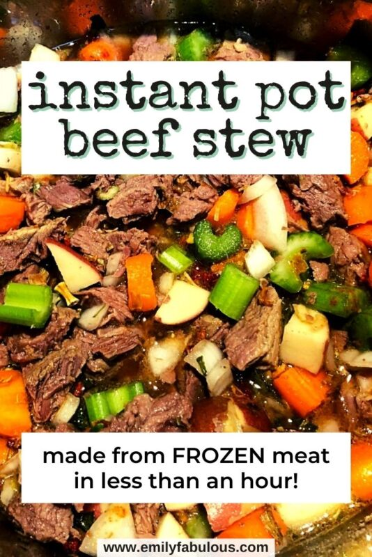 beef stew with vegetables in the instant pot