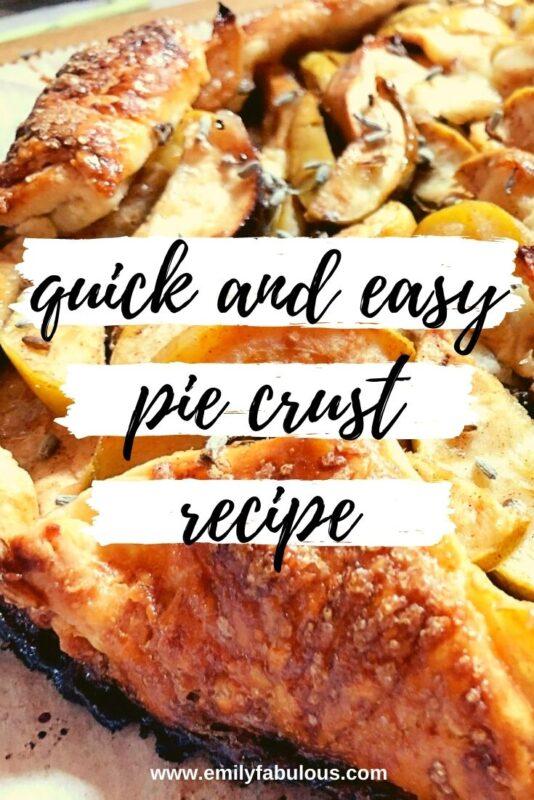 apple lavender galette pie crust