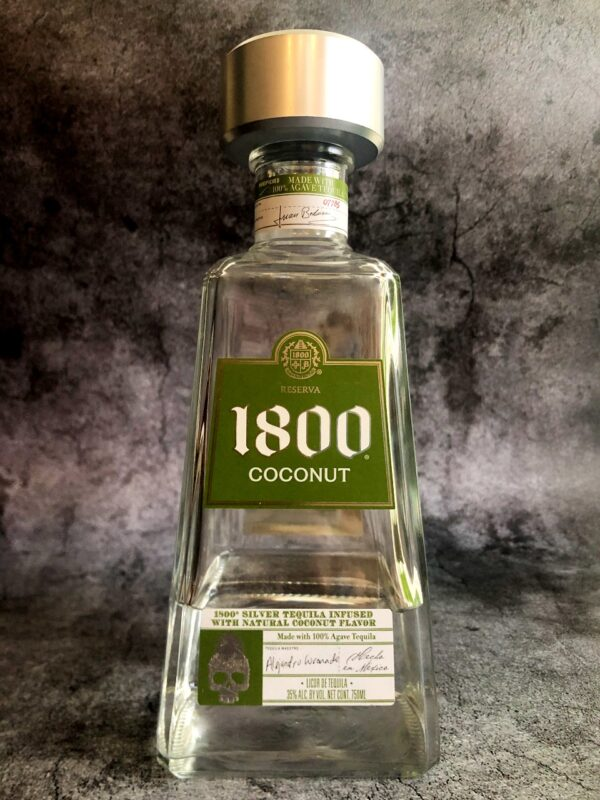 1800 coconut tequila bottle