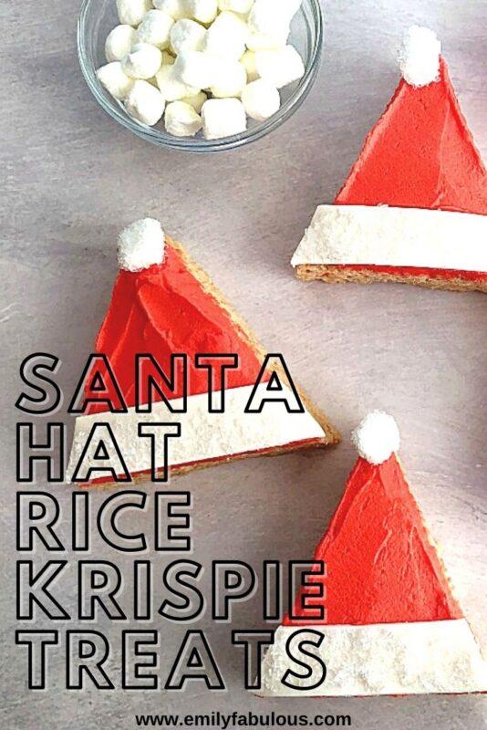 santa hat rice cereal treats