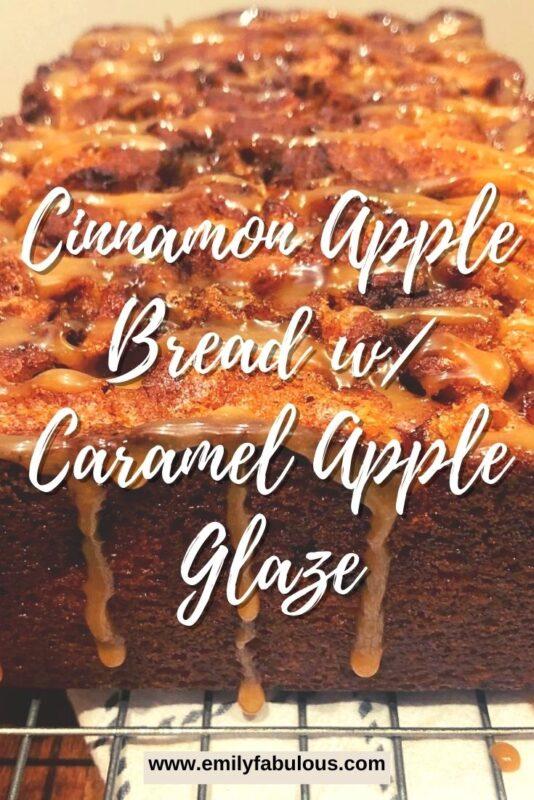 cinnamon apple swirl bread with a apple caramel frosting