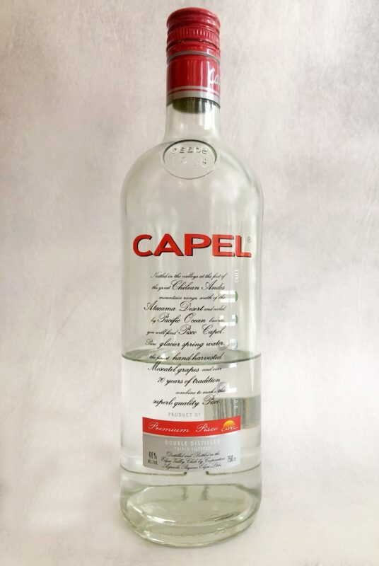 bottle of capel pisco