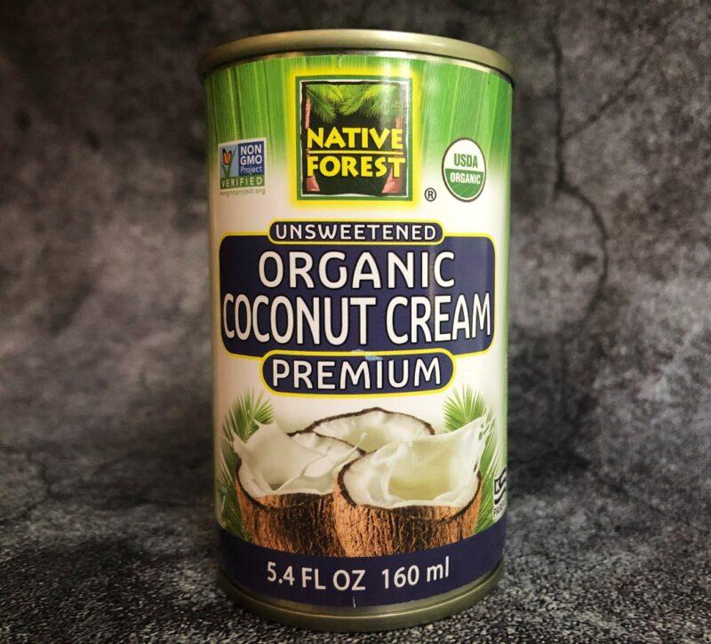 can of organic coconut cream