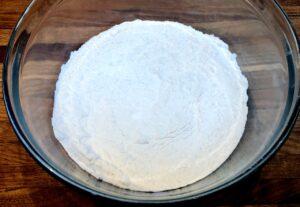 flour and baking powder mixture