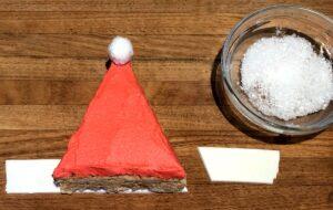 fondant cut for santa hat