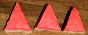 red frosted triangles
