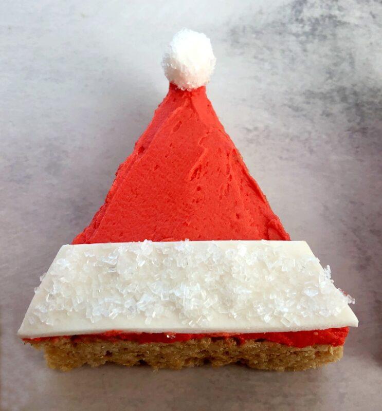 santa hat rice krispie treat