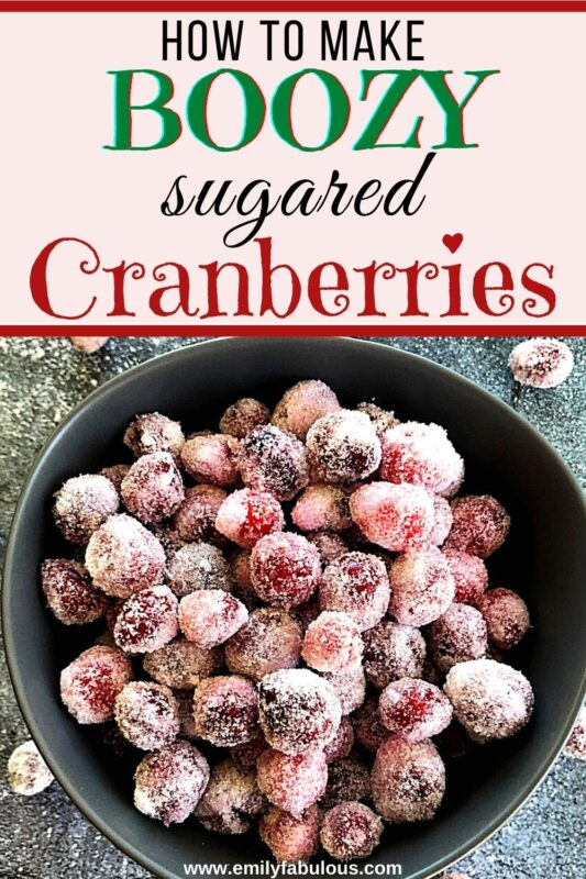 candied cranberries in a bowl