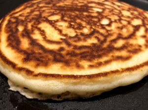 lavender pancake on griddle (1)