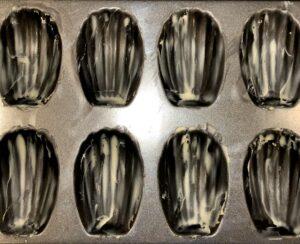 buttered madeleine pan